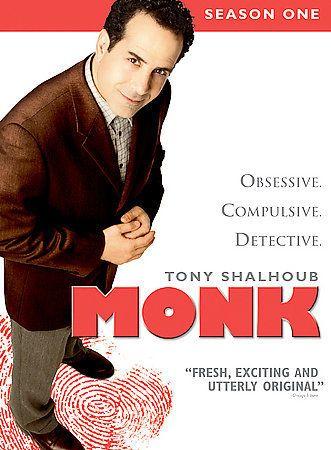 Monk: Season One  DVD Tony Shalhoub, Bitty Schram, Jason Gray-Stanford USED