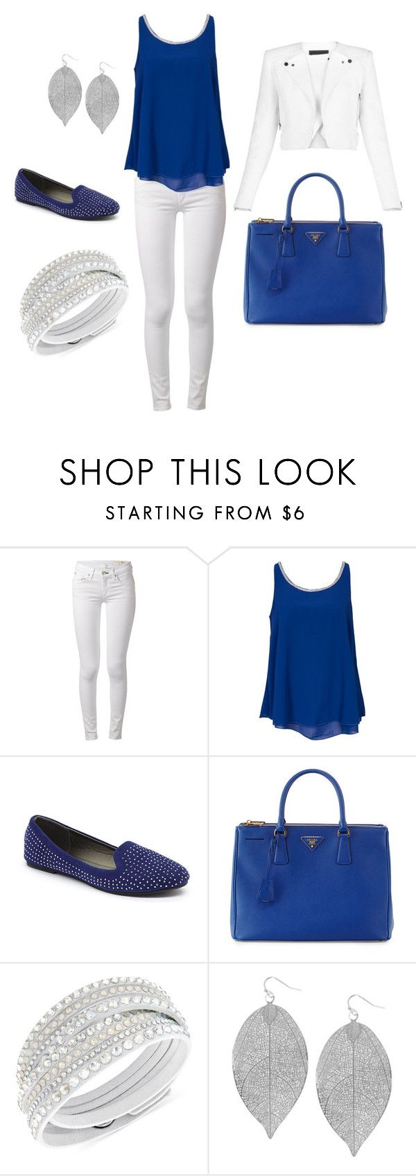 """""""Once in a blue moon"""" by amanda-j-burke on Polyvore featuring rag & bone, Sisters Point, Ositos Shoes, Prada, Swarovski, Humble Chic and BCBGMAXAZRIA"""