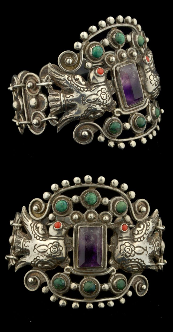 Bracelet | Matilde Poulat.  Sterling silver and stones | ca/ 1920s - early 1930s