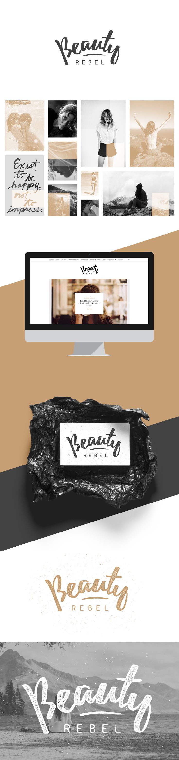 Visual identity for beautyrebel.pl blog.