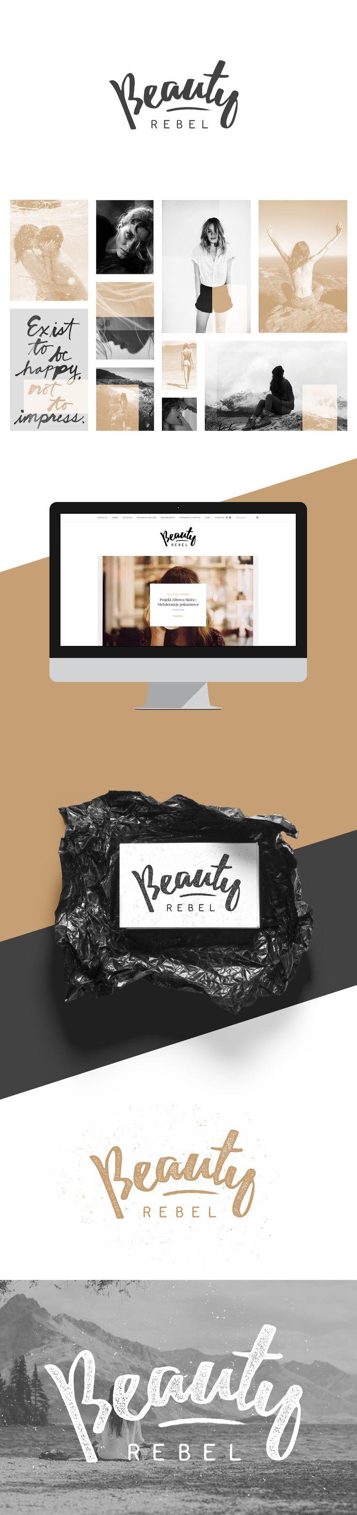 Visual identity for beautyrebel.pl blog.