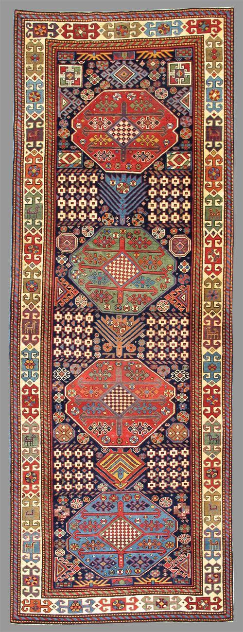 caucasian akstafa rug 19th c 3rd q carpets kilims pinterest oriental textilien und. Black Bedroom Furniture Sets. Home Design Ideas