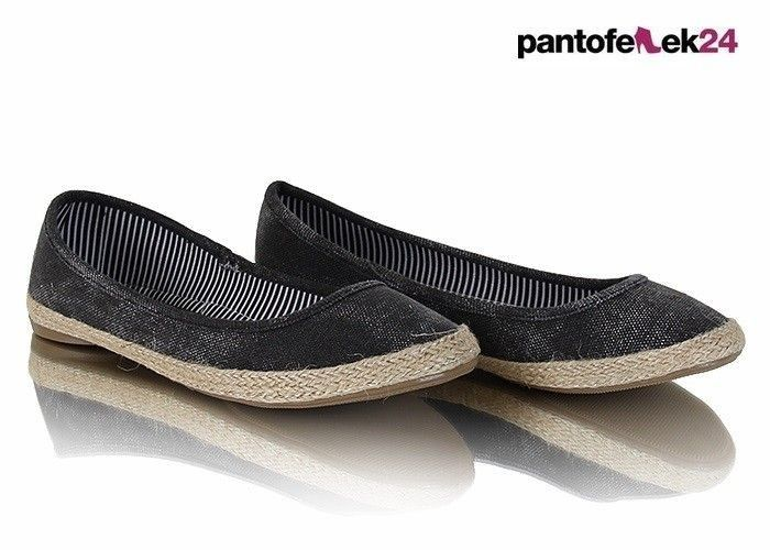 Klasyczne, czarne espadryle / Classic, black espadrilles / 17,90 zł #classic #espadrilles #shoes #black #summer #spring #fashion