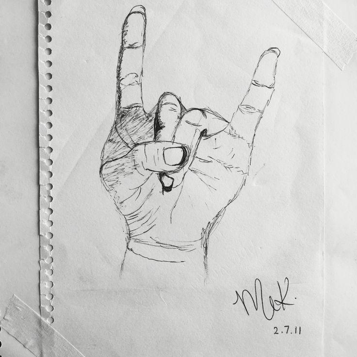 MEK art & design™   self hand sketch