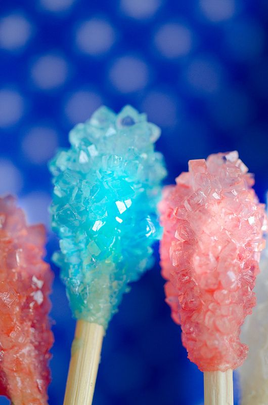 Homemade Rock Candy Can make any color use @ Baby Shower/Birthday Parties