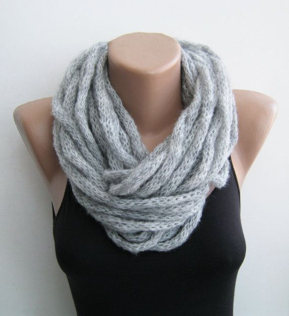 Infinity cowl scarf at http://www.etsy.com/listing/117130595/gray-i-cord-cowl-scarf-necklace-infinity