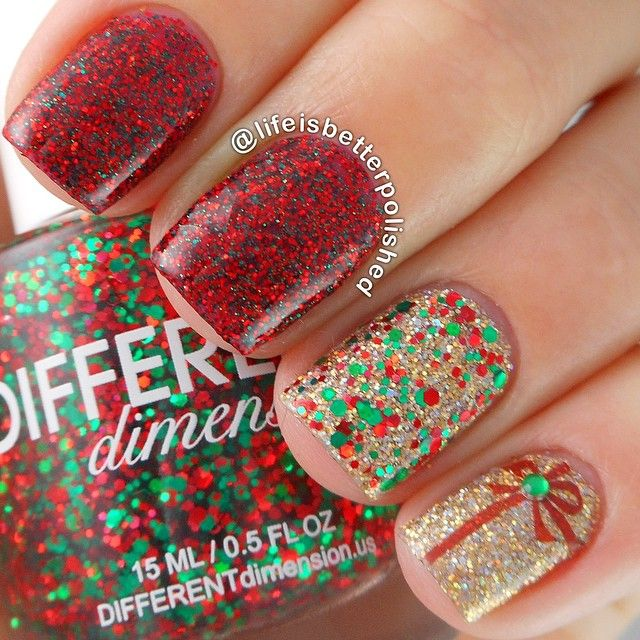 67 best nail art winterholiday manicures images on pinterest glittery christmas manicure nailart manicure nails naildesign manicureideas prinsesfo Image collections