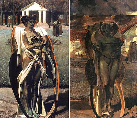 Thanateros I + II - Jacek Malczewski -a great example of the Symbolist movement in Poland, where there was great interest in it's psycho-sensual themes.