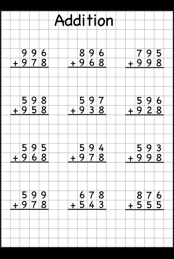 Adding With Regrouping Addition With Regrouping Worksheets Math Addition Worksheets 2nd Grade Math Worksheets Worksheetfun addition without regrouping