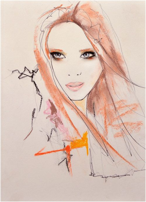Marianne 2 - Fashion Illustration Art Print. $28.00, via Etsy.