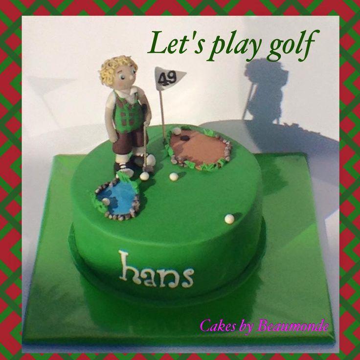 Golf taart met kruimeldiefje.