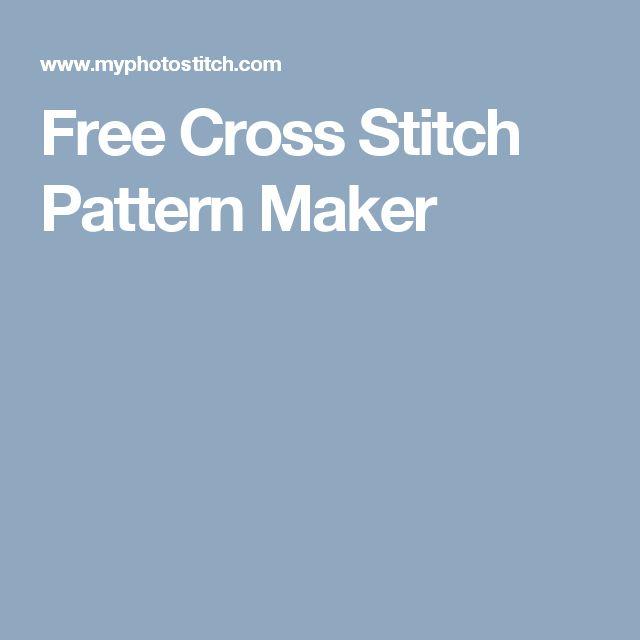 Free Cross Stitch Pattern Maker More