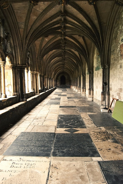 Norwich Cathedral cloisters...Harry Potter filmed here.