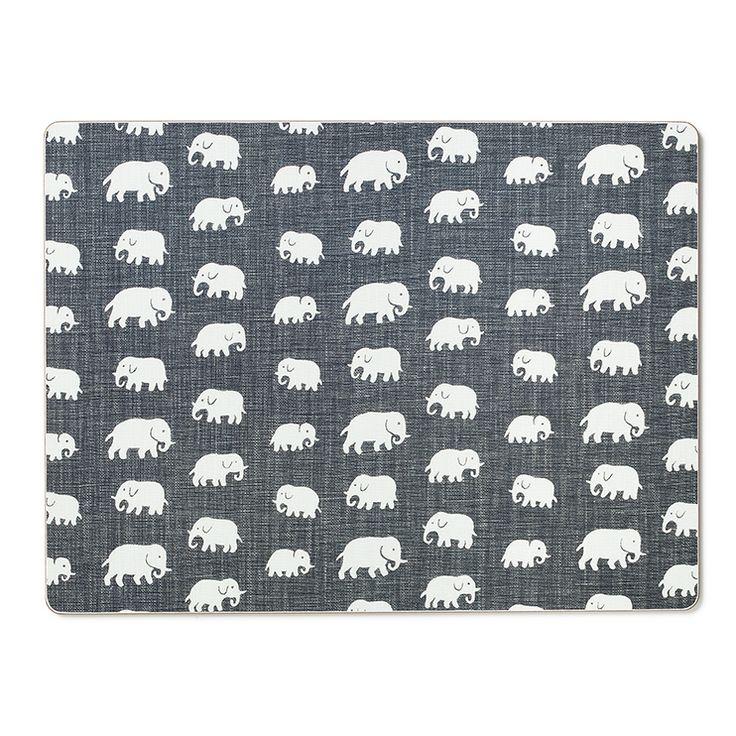 Underlägg Elefant Grå 2-pack, Svenskt Tenn