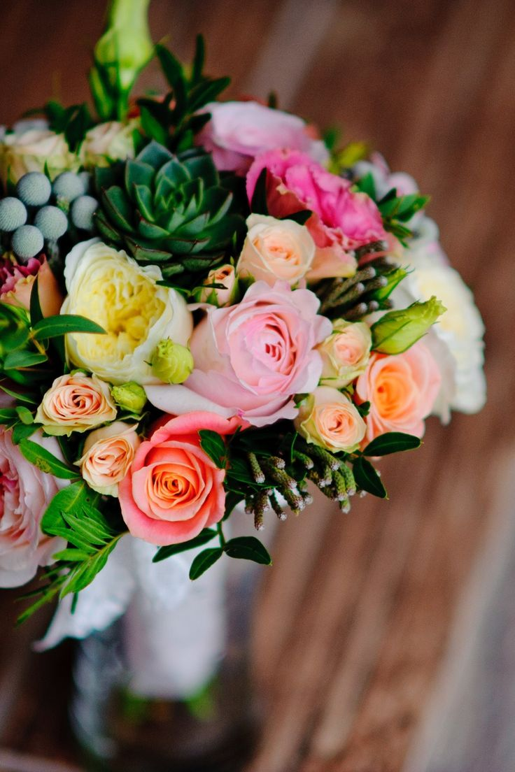 Yellow Pink and Orange Flower Bouquet