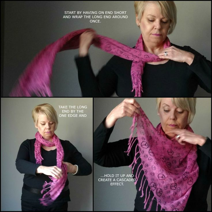 Accessory Tutorial #5 - How to Tie a 'Waterfall' Scarf
