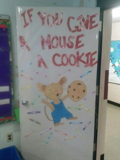Classroom Decorations Bulletin Boards ~ If you give a mouse cookie door my bulletin boards