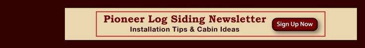 How to install log siding.