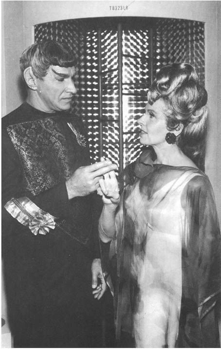 """Sarek and Amanda. Mark Lenard was the first actor to play a member of all three of the major alien races: Vulcan (Spock's father), Romulan (""""Balance of Terror""""), and Klingon (commander of Klingon attack group at beginning of TMP)"""