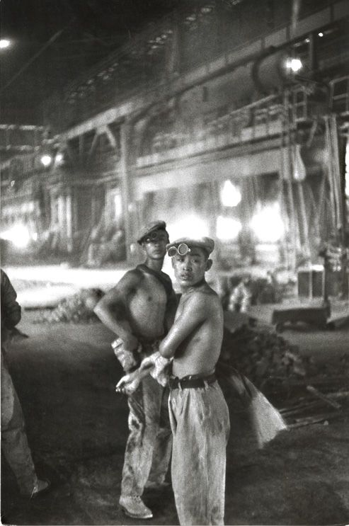 Chinese Factory Workers.       Henri Cartier-Bresson, 1954.