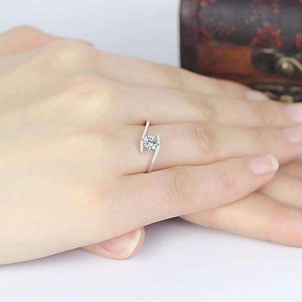 Mia 50ct Tension Set Bypass Iobi Simulated Diamond Ring Simulated Diamond Rings Diamond Ring Cultured Diamonds