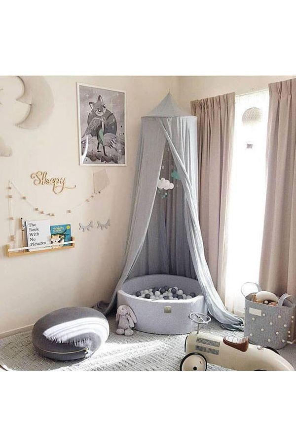 Ball Pit for Babies - Grey / Gray Gender Neutral Nursery Design - Simple, Modern, Baby Nursery, Toddler Bedroom - Baby Gift - Baby Shower Gift #babies #pregnancy #nursery #nurserydecor #babygifts #babyshowers