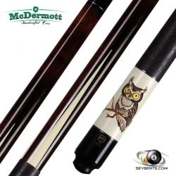 McDermott G420 Wildfire Owl 3D Carved Pool Cue