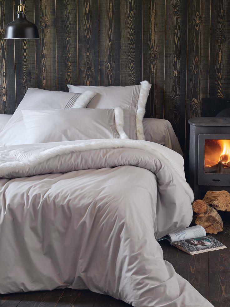 11 best maison chic images on pinterest lille bedding - Housse de couette fourrure ...