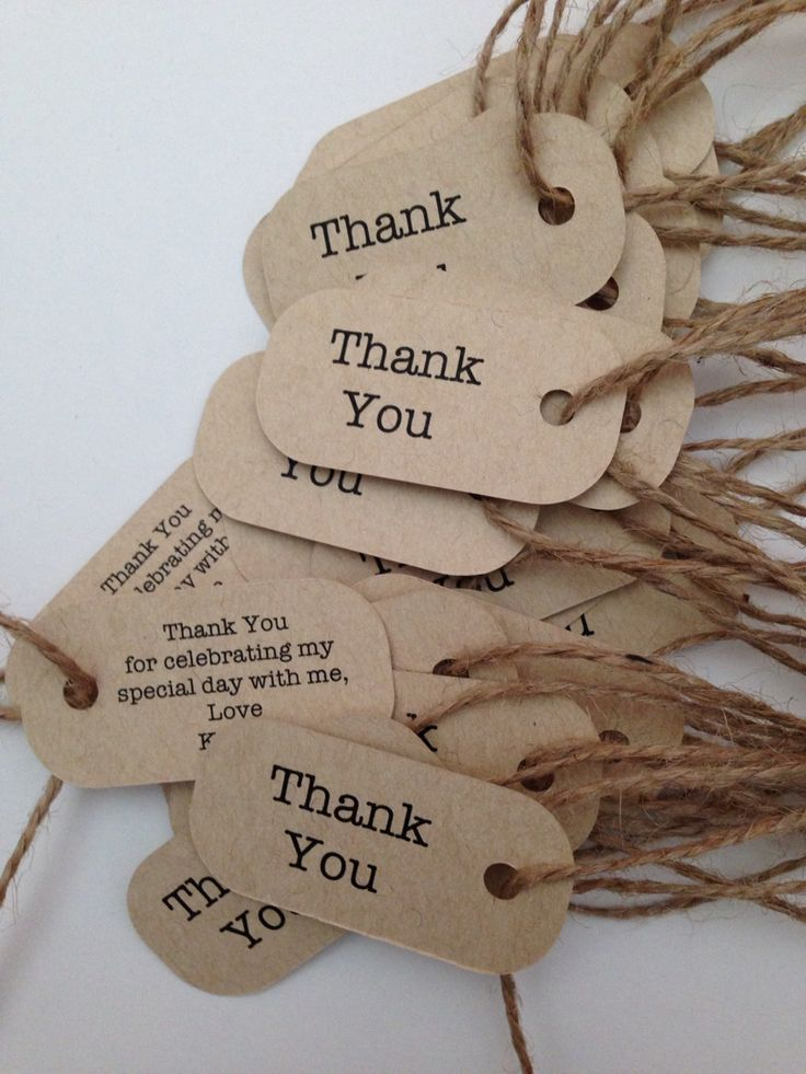 Jessika's thank you tags with personalised message! #thankyoutags