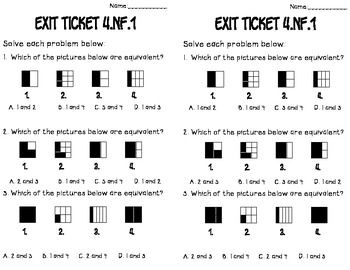 4th grade NF.1-7: Math Tasks, Exit Tickets, I Cans for the Numbers in Operations Fractions.   $ #commoncore #mathtasks #exittickets #mathcenters