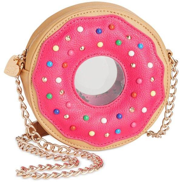Betsey Johnson Doughnut Crossbody (740 ZAR) ❤ liked on Polyvore featuring bags, handbags, shoulder bags, fuschia, crossbody shoulder bags, fuschia purse, pink handbags, fuschia handbag and multi colored handbags