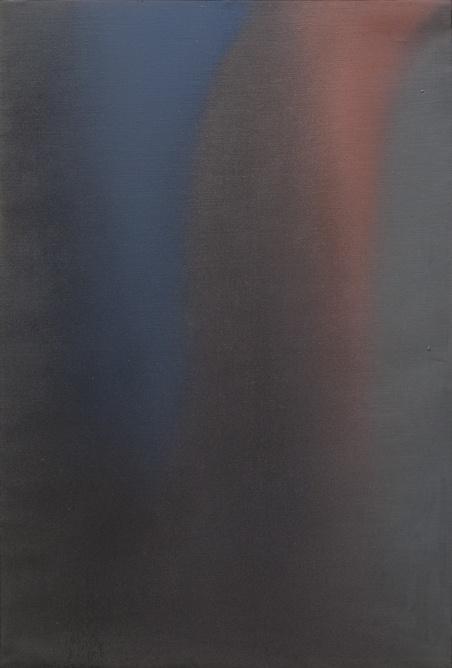 Claudio Olivieri, Blu rosso, olio su tela, 1975