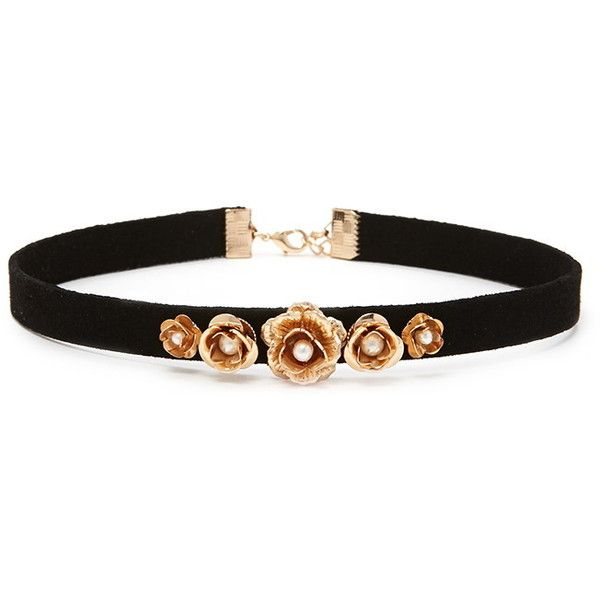 Forever 21 Velvet Rose Choker ($6.90) ❤ liked on Polyvore featuring jewelry, necklaces, rosette necklace, forever 21 necklace, rose choker, choker necklace and velvet necklace