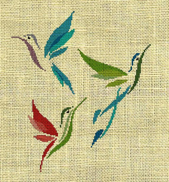 Bird/Hummingbird/animal Counted Cross Stitch by crossstitchgarden, $3.85