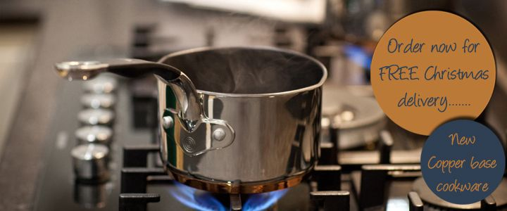 Order now for FREE Christmas Delivery - our new copper base cookware and silver and copper plated mini ladles!