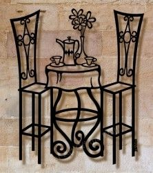 Bistro Table Metal Wall Sculpture