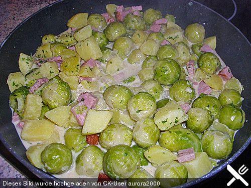 Rosenkohl - Kartoffel - Kasseler - Pfanne