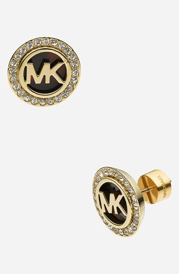 Michael Kors 'Monogram' Stud Earrings available at #Nordstrom
