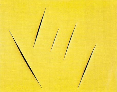 File:'Concept Spatiale', 1959 painting by --Lucio Fontana--, 100 x 125 cm.jpg