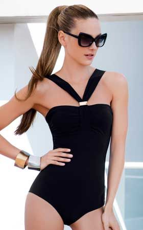 Back in Black One Piece Swimsuit by Touche Trends 2014 from #SwimwearBoutique