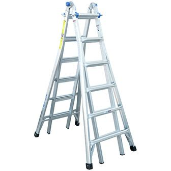 Get more done in less time.  Rent the Aluminum Multi Purpose Ladder 26' today at your local Home Depot.