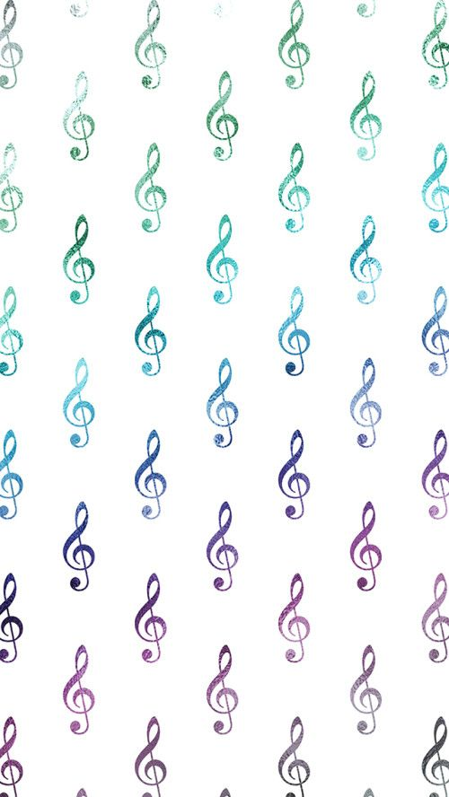 Rainbow Wallpaper Musical Clef Notes Free iPhone Wallpaper