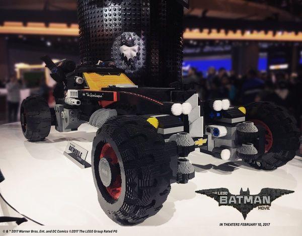Lego Batman Movie Life-Size LEGO Batmobile From Chevrolet