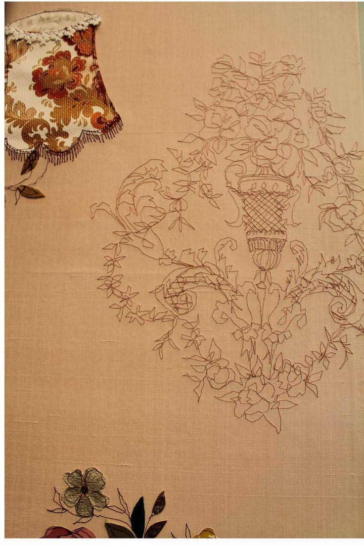 Claire Coles   Embroidered fabric board   Decorex 2013