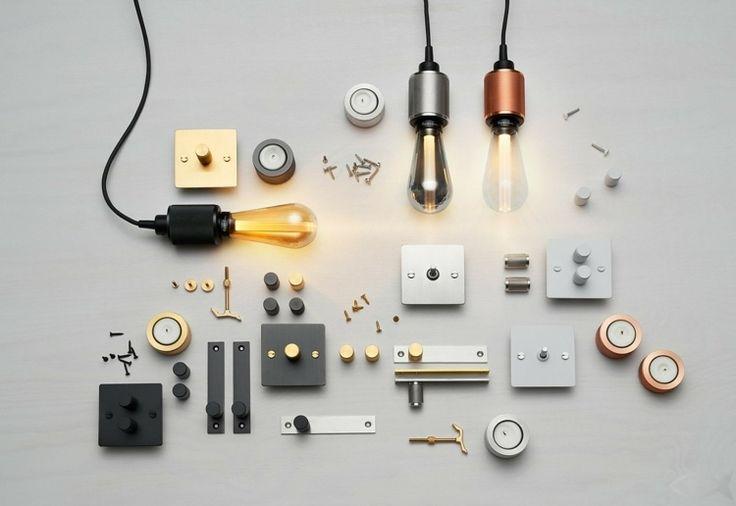 LED Glühbirnen Lampe in Einzelteilen