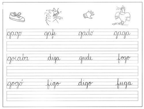 Professora Michelle: Atividades de caligrafia para o 1º ano - Imprimir