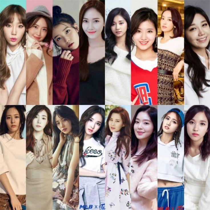 Top Female Kpop artist / idol with the biggest fanbase: 1. Taeyeon Snsd  2. Yoona Snsd  3. Iu / Lee Jieun  4. Jessica Ex-Snsd  5. Krystal F(X)  6. Tiffany Snsd  7. Suzy Miss A  8. Nayeon Twice  9. Tzuyu Twice  10. Sana Twice  11. Victoria F(X)  12. Eunji A Pink  13. Seohyun Snsd  14. Irene Red Velvet  15. Momo Twice  16. Mina Twice…