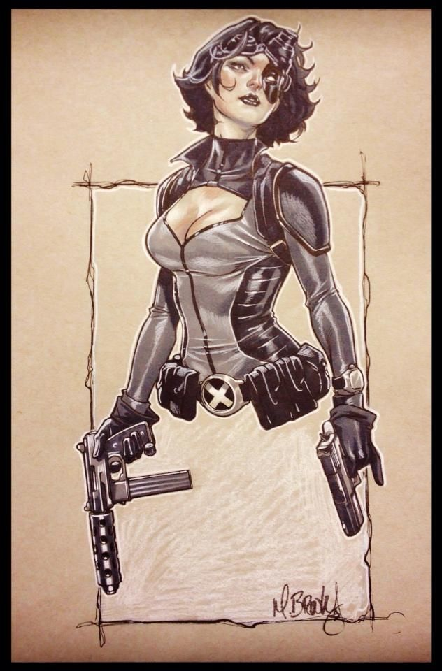 Domino sketch by Mark Brooks