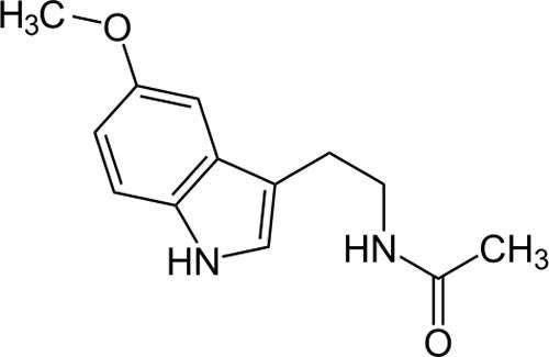 Melatonin Chemical Structure - Back of ear