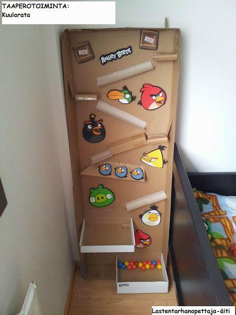 leikit, sisäleikit, kuularata, Angry Birds, diy